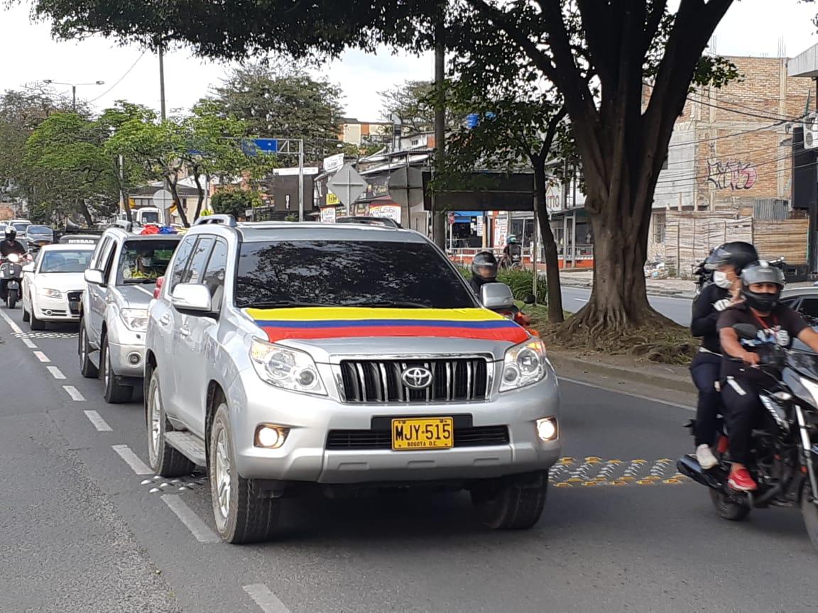 En Popayán se movilizaron para apoyar al senador Uribe