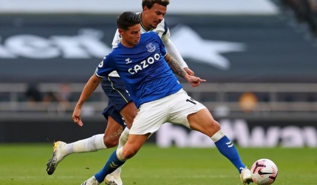 James Rodríguez ya entrena con el Everton ¿Jugara el próximo partido?