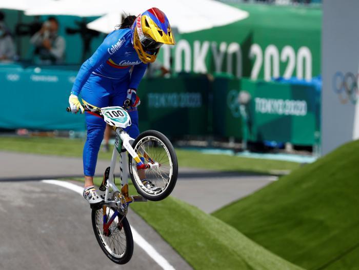 Mariana Pajón va por la de oro esta noche en BMX, en los Juegos Olímpicos