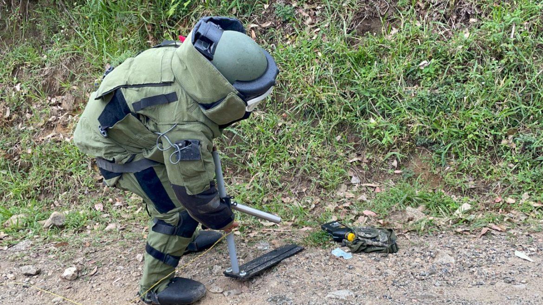 Policía Nacional detona artefacto explosivo de forma controlada, en las afueras de Popayán