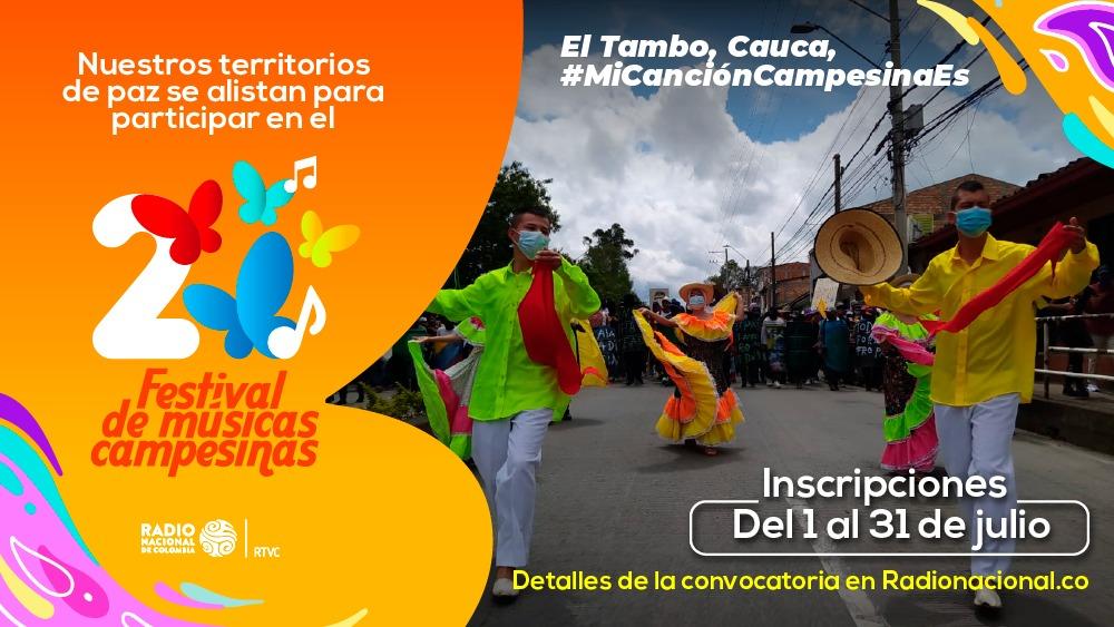 Radio Nacional de Colombia presenta el II Festival de Músicas Campesinas