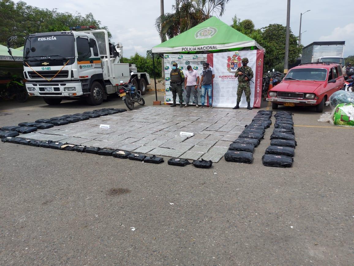 Ejército Nacional incautó media tonelada de marihuana en Caloto, Cauca