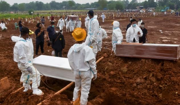 Indonesia registró más de 2.000 muertos por Covid-19 en un día