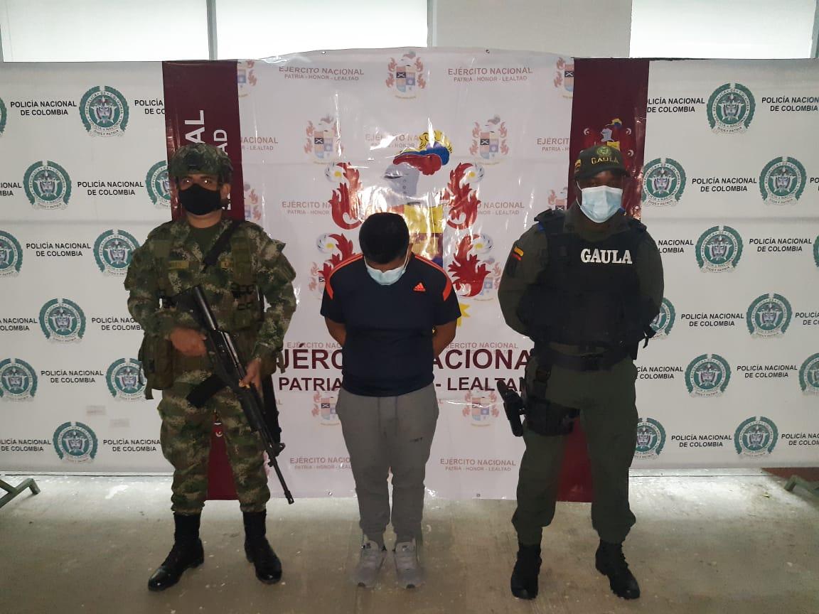 """Policía y Ejército, lograron la captura de alias """"El Pastuso"""" integrante del GAO-r Dagoberto Ramos"""
